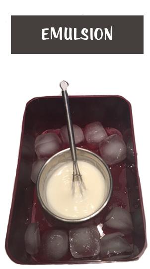 émulsion refroidissement glaçon crème peau sèche
