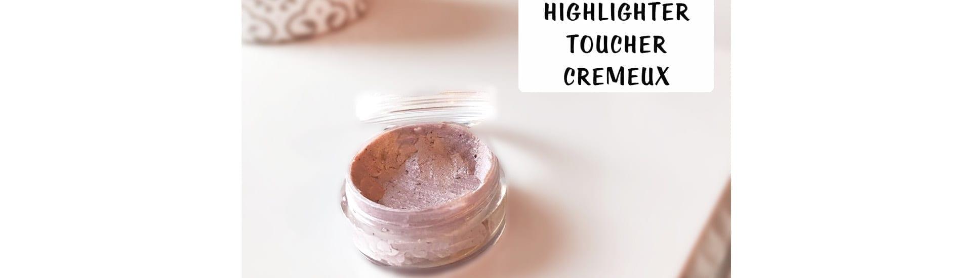 Highlighter de teint artisanal bio : toucher crémeux