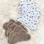 Lingettes lavables bébé Lapin Lot de 10