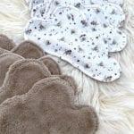 Lingettes lavables bébé Lapin Lot de 10 focus