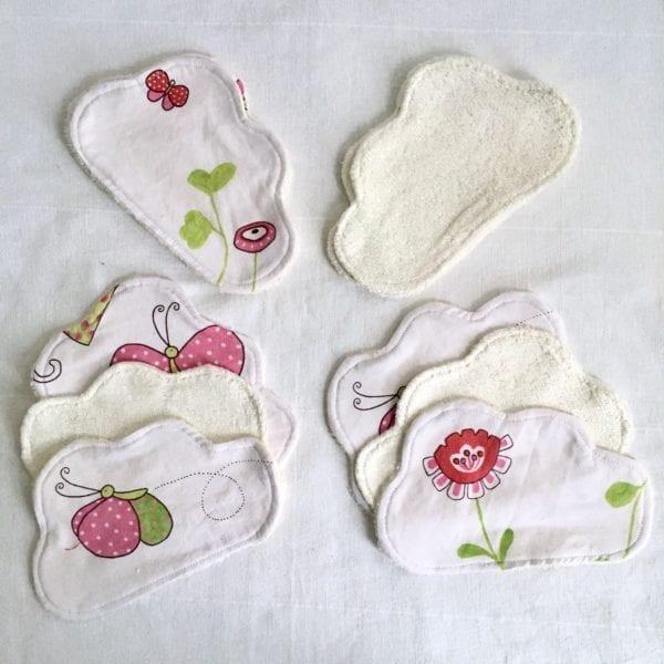 Lingettes lavables bébé champêtre-lot de 10