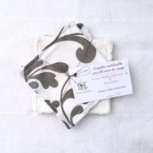 Lingettes lavables lot de 5 Cachemire blanc