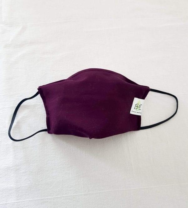 Masque barrière taille femme violet bordeaux