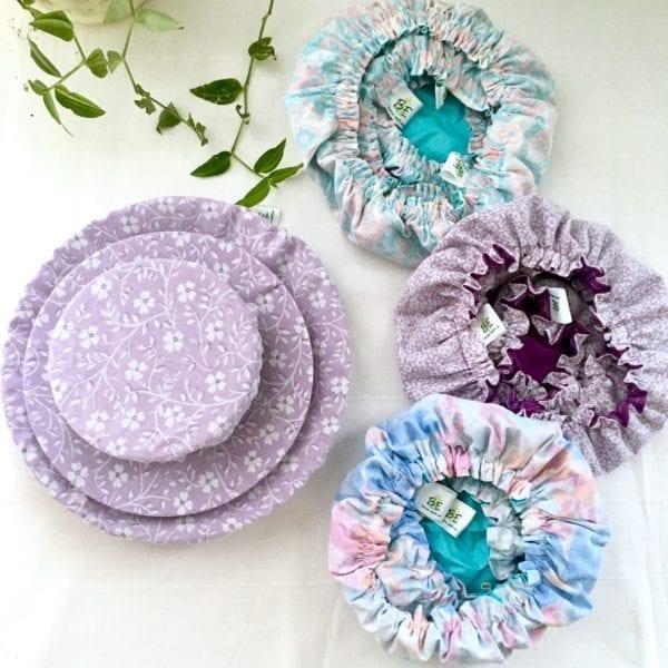3 Charlottes à plats réutilisable en tissu recyclés par Be Loves Nature