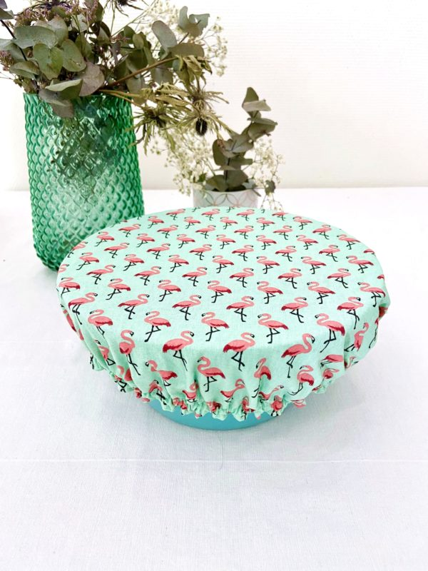Couvre plat Flamand rose