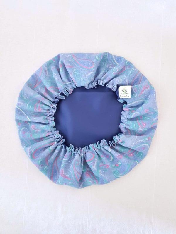 Couvre plat lavable XL Cachemire bleu