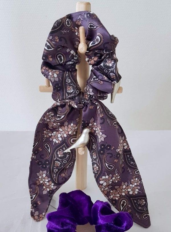 Foulchie long cachemire violet