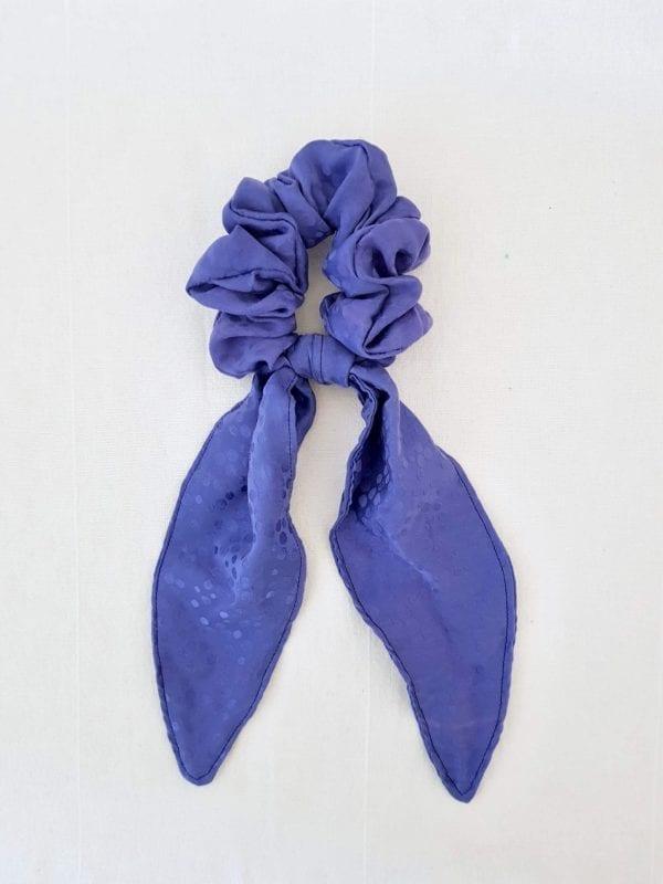 Foulchie long satin bleu