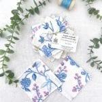 Lingettes démaquillantes lavables lot de 10 Fleurs Bleues