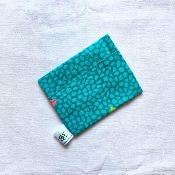 Pochette savon ou pochette cosmétiques solides écailles vertes
