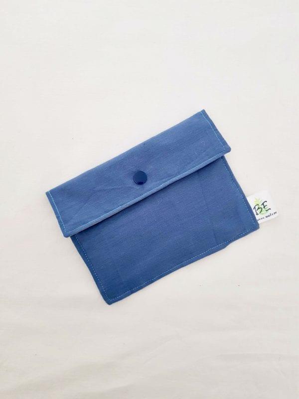 Pochette savon imperméable et masque Bleu