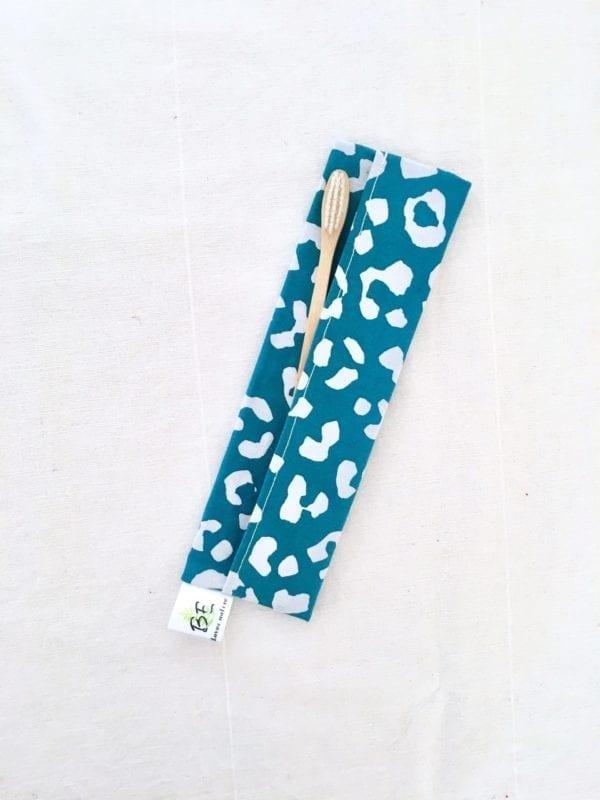 Pochettes brosse à dents imperméable Léopard bleu