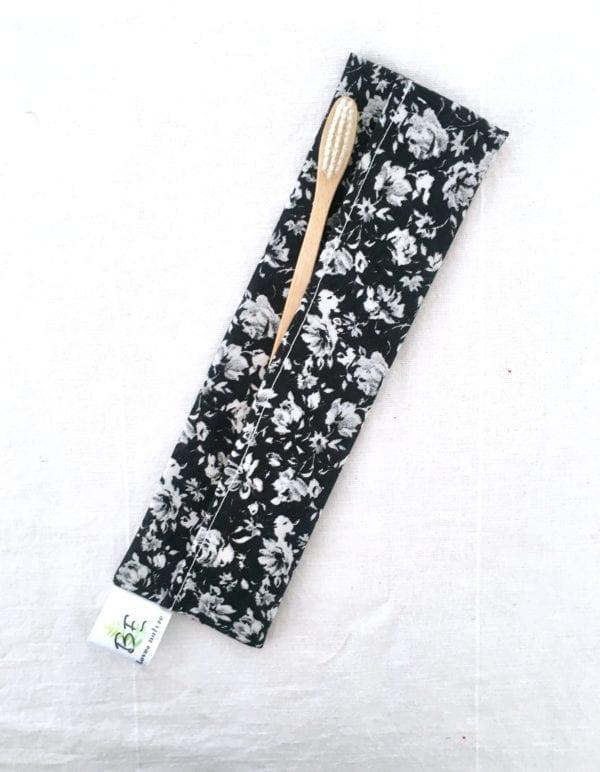 Pochettes brosse à dents imperméable Roses noires