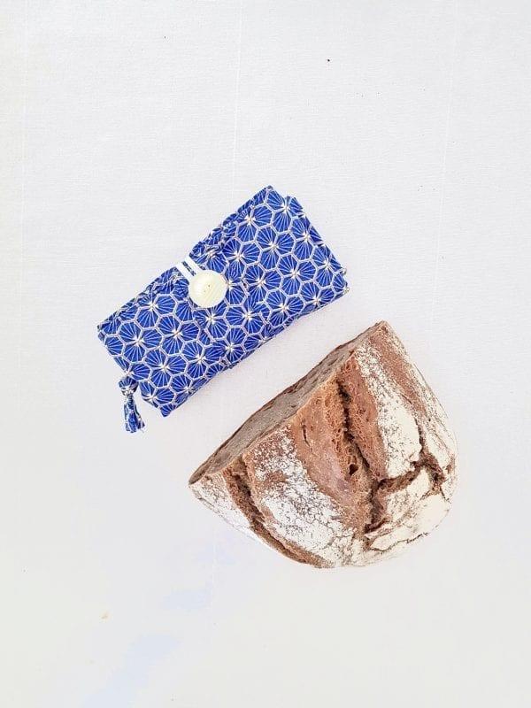 Sac à pain plié Graphique Bleu