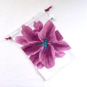 Sac à vrac M Fleur violette