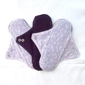 Serviettes lavables menstruelles zéro déchet