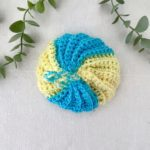 Tawashi boule jaune bleu