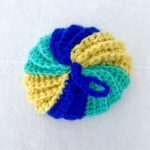 Tawashi boule jaune bleu vert