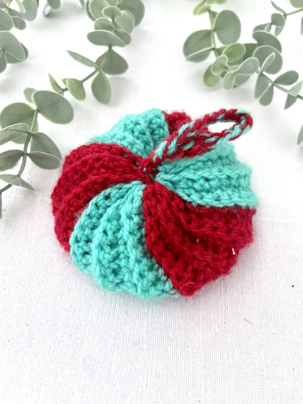 Tawashi boule rouge turquoise