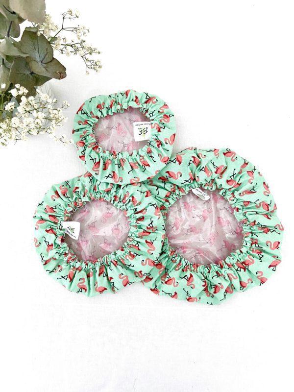 couvre plat réutilisable lot de 3 Flamand rose