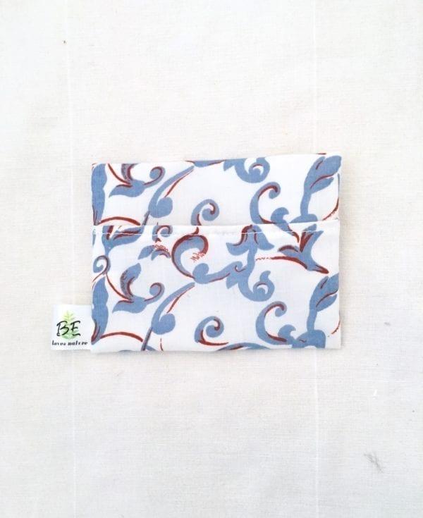 pochette savon imperméable portefeuille Cachemire bleu
