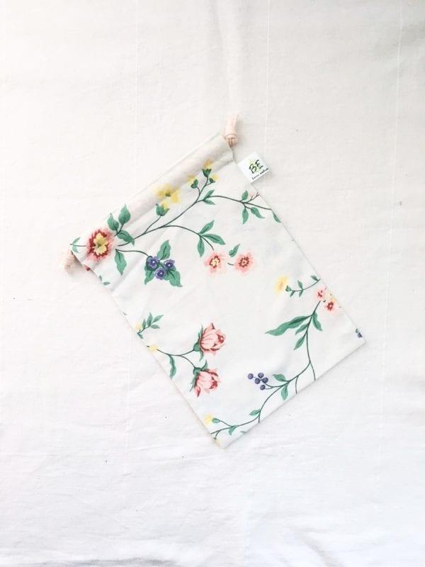 sac à vrac M courses zero dechet fleurs de prés