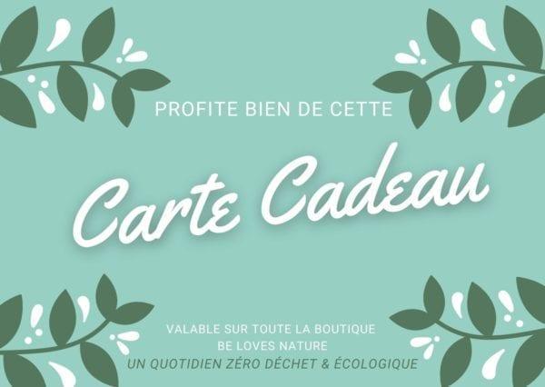 Carte Cadeau Be Loves Nature un quotidien zéro déchet & écologique