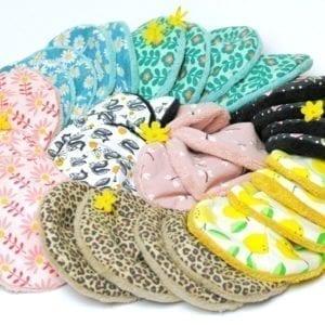 Coussinets Lavables d'allaitement lavables bio en bambou absorbant pour mamans allaitantes