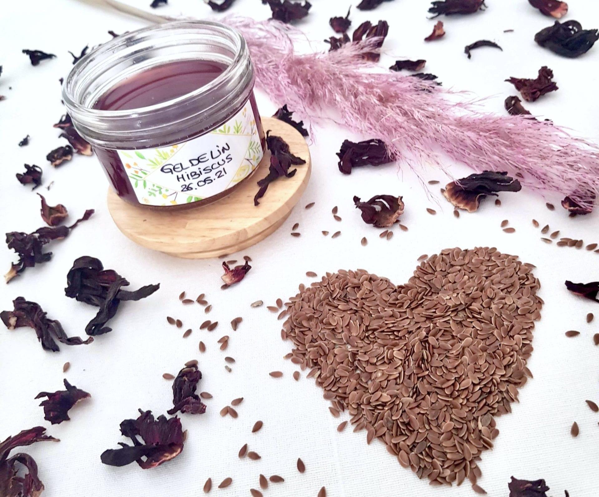 Gel de lin maison à l'Hibiscus; l'agent hydratant & naturel