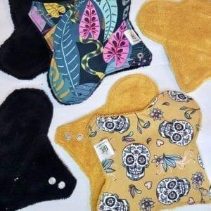 Serviette hygiénique lavable maternité zéro déchet