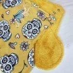 Serviette hygiénique lavable maternité bambou jaune