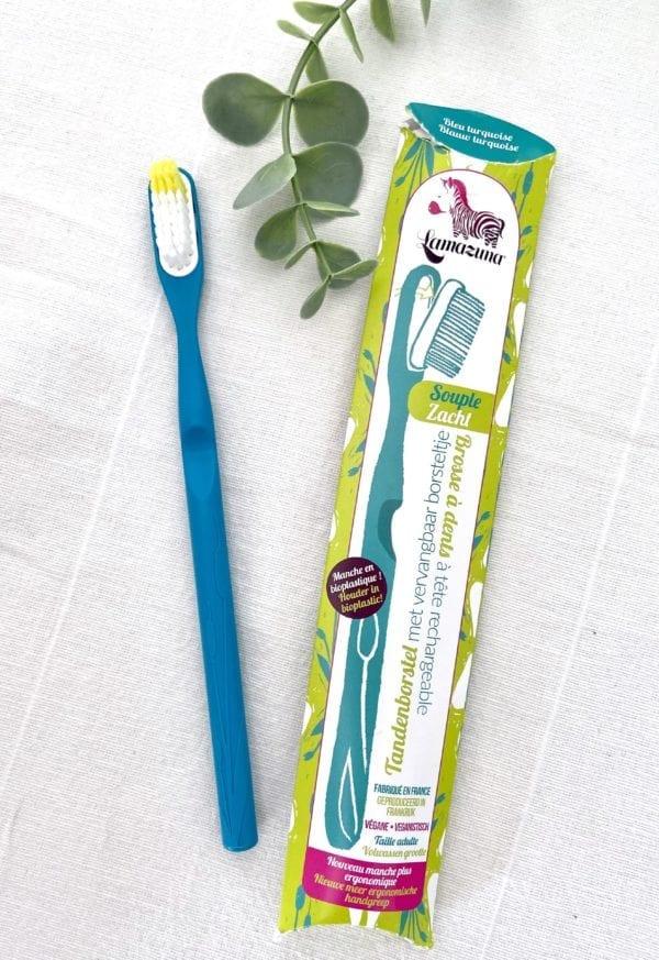 Brosse à dents écologique Turquoise