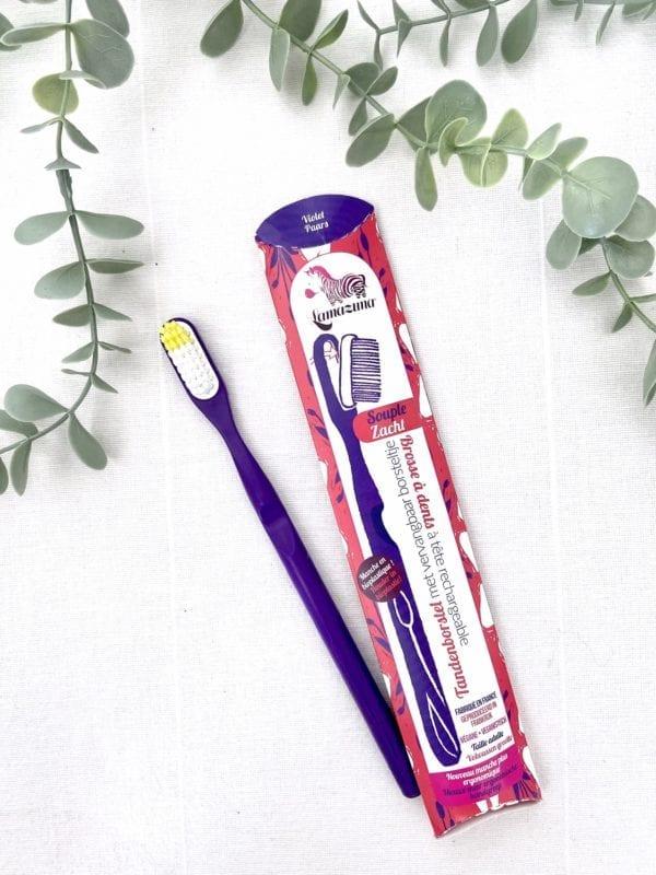 Brosse à dents écologique Violette