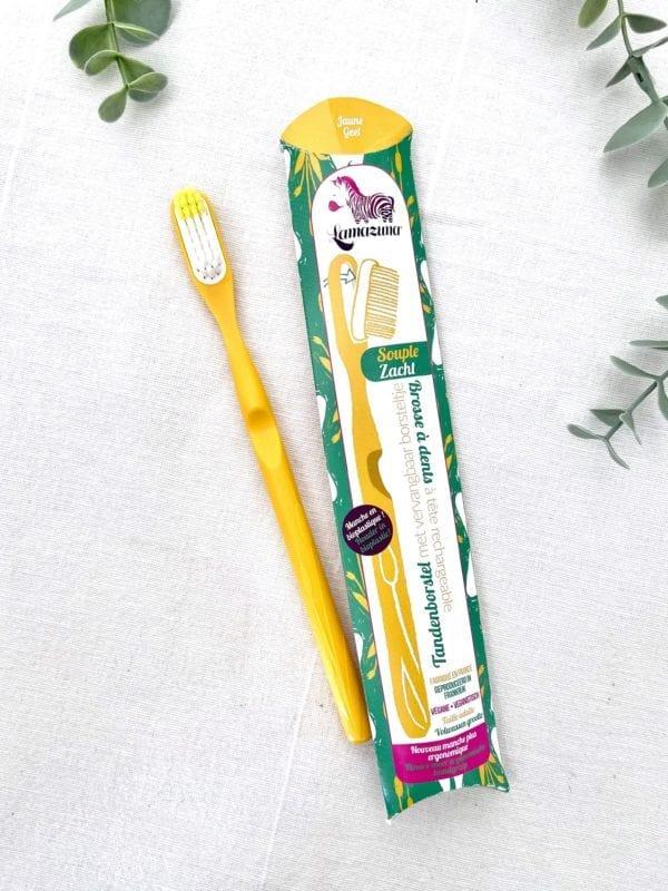 Brosse à dents écologique jaune