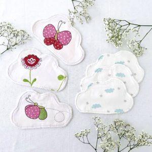 Lingette bébé Lavable - Lot de 3 Papillons & Nuage